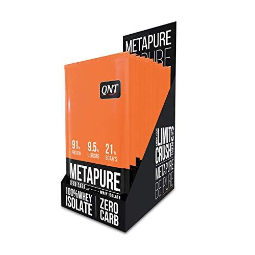 QNT Metapure Whey Protein Isolierung Belgische Schokolade 908 g - 85% Protein - 8,7% Leucin - 19% BCAA -