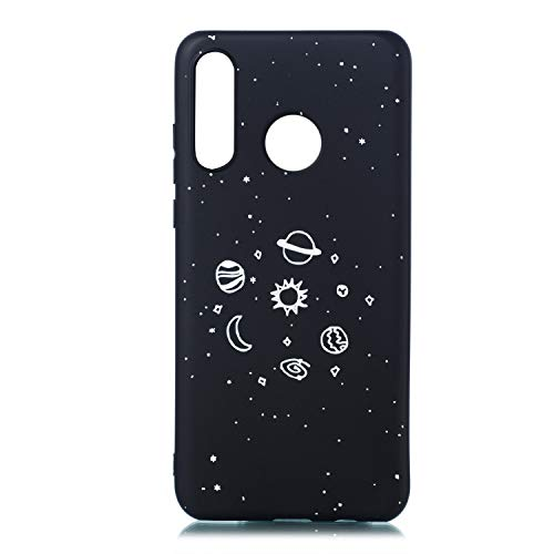 ChoosEU Compatible für Huawei P30 Lite Hülle Silikon Muster Schwarz Handyhülle für Mädchen Frau Mann, Dünn Silikonhülle Bumper Stoßfest Slim Case Schutzhülle Soft Cover - X