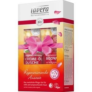 Lavera Körperpflege Body SPA Bio-Cranberry & Bio-Arganöl Regenerierende Auszeit Pflege-Set Creme-Öl Dusche 200 ml + Bodymilk 200 ml 1 Stk.