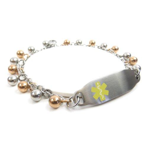 myiddr-collier-bracelet-didentite-gravee-arbre-ecrou-allergie-gouttes-de-pluie-en-acier