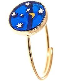 Córdoba Jewels | Anillo en plata de ley 925 bañada en oro. Diseño Cielo Murano Oro