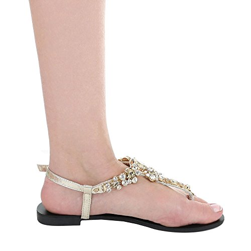 Senhoras Sandálias De toe Dedos Sapatos Ital Peep Bloco Sandálias Trenner Calcanhar Design De Ouro Fivela Rww8qx5U