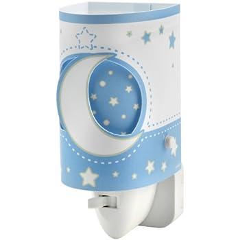Dalber Veilleuse LED - Modèle Lune - Bleu / Blanc