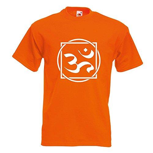 KIWISTAR - Om Zeichen T-Shirt in 15 verschiedenen Farben - Herren Funshirt bedruckt Design Sprüche Spruch Motive Oberteil Baumwolle Print Größe S M L XL XXL Orange