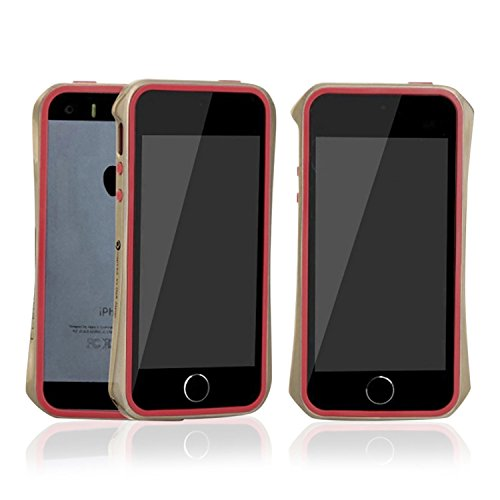 Aero 5 Slimline Or pare-chocs en alliage brillant étui métallique pour Apple iPhone 5 / 5S - Rose Rouge