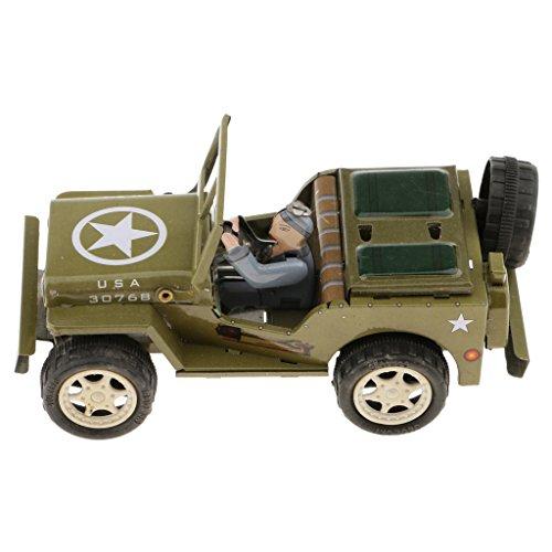 sharprepublic Vintage Diesel Traktor Modell Wind Up Uhrwerk Zinn Spielzeug Sammlung Geschenke - Jeep - Wind-up Zinn Spielzeug