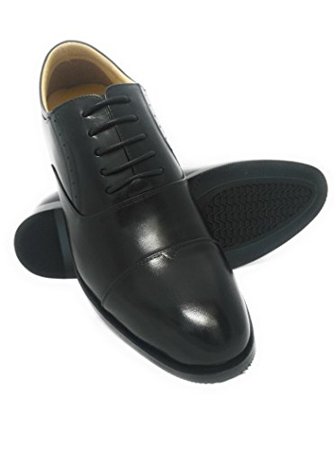 ZERIMAR Zapatos con alzas de vestir para hombre Aumento +7 Cm Fabricados en piel de ternera Forro interior 100% piel