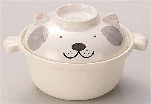 Kakusee Hund Art japanischen Stil Kochtöpfe Topf für 1 person Grau 34-31-03 aus Japan