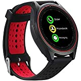 ZEPAD V9 Bluetooth Smart Watch Compatible With All 3G, 4G Android And IOS With Camera & Sim Card Support.(RED-Black)