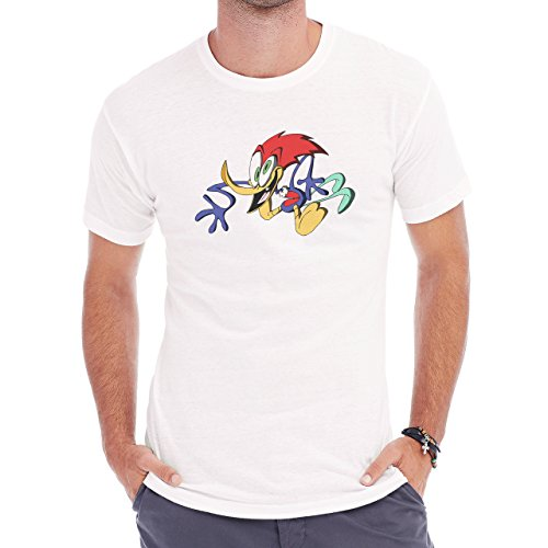 Woody The Woodpecker Gone Crazy Herren T-Shirt Weiß