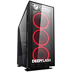 LUMAR Ordenador Gaming Sobremesa/Intel Core i7 Up to 4x3,9Ghz/16GB RAM DDR3/480GB SSD + 3TB HDD/NVIDIA GTX 1050Ti 4GB/HDMI/USB 3.0/Windows 10 Pro Trial