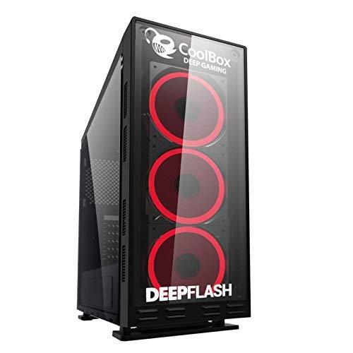 LUMAR Ordenador Gaming Sobremesa/Intel Core i7 Up to 4x3,9Ghz/16GB RAM DDR3/480GB SSD + 3TB HDD/NVIDIA GTX 1050Ti 4GB/HDMI/USB 3.0/ 700W / Windows 10 Pro Trial