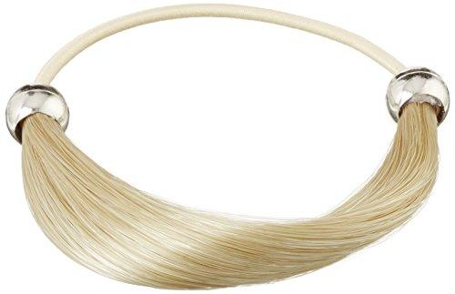 Solida kunsthaarzopfabbinder Marie, classique lisse, diamètre Env. 6.00 cm, couleur 2 Blond médium, Lot de 2 (2 x 1)