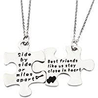ENSIANTH LIVE Semicolon Hand Stamped Necklace & Keychain Recovery Necklace udrpE