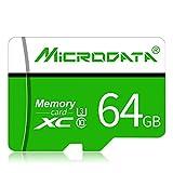 H&T Micro SD-Karte, Micro SDHC Class 10 Gopro-Speicherkarte UHS-I-Geschwindigkeit bis zu 80 MB/S TF-Karte mit SD-Adapter für Telefonkamera Computer,64GB