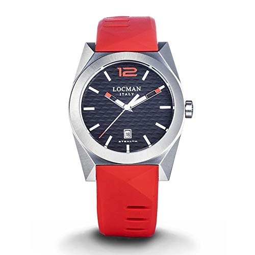 Men's Stealth Steel and Titanium Red Locman Watch