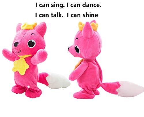 yuailiur Animiertes Plüsch-Spielzeug, niedlicher roter Fuchs Handpuppe sprechend singend Stofftier Spielzeug Geschenk Set für Kinder Freundinnen (Sprechende Handpuppe)