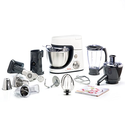Tefal MasterChef Gourmet 900-Watt Stand Mixer with 11 Food Processor (Metallic Grey)