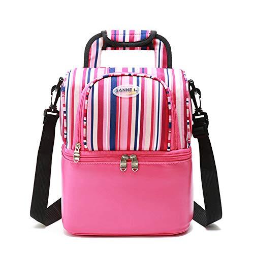Isolierte Lunch Bag Portable Picknick-Boxen KüHltasche Travel Organizer Wasserdicht,pink