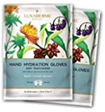 LuxaDerme Deep Moisturizing Hand Hydration Gloves with Safflower Oil, Allantoin and Star Anise, 15ml - Pack of 2