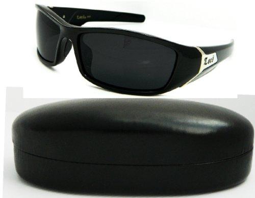 Wholesale LOCS DG XLOOP CHOPPERS Locs Marke Sonnenbrille mit Black Out Linsen und locs Emblem & gestreifter Entwurf auf Stamm mit Hartschalenkoffern 3078B