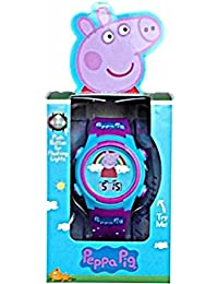 Peppa Pig Kids luces intermitentes LCD reloj