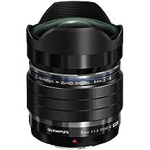 Olympus EF-M0818 PRO - Objetivo para cámara réflex (8 mm, Digital ED 1:1.8, Fisheye), negro