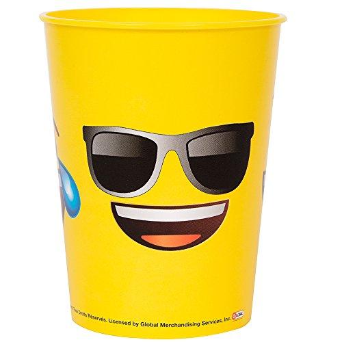 (Unique Party 50602 2,13 m x 1.37 m große Kunststoff-Tischdecke mit Emoji-Motiv)