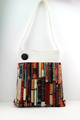 Blue book Lovers Shoulder bag - Handmade - Gobelin
