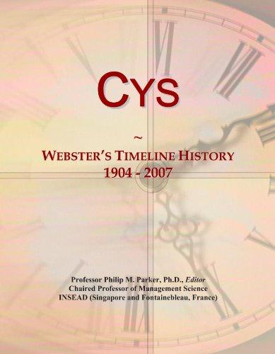 Cys: Webster's Timeline History, 1904 - 2007