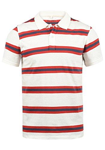 Blend Pique Herren Poloshirt Polohemd T-Shirt Shirt mit Polokragen Aus 100% Baumwolle, Größe:L, Farbe:White (70002)