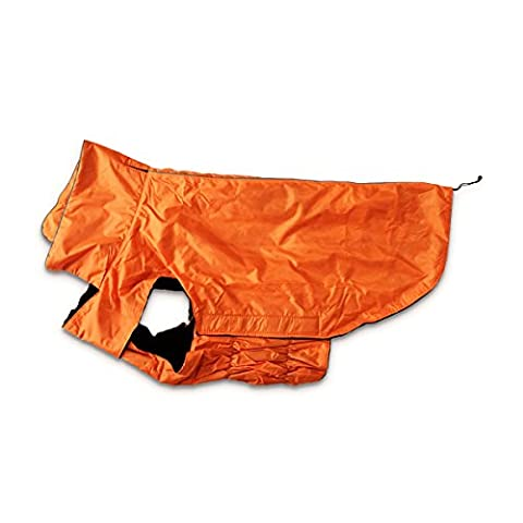 Large Dog Coat Jackets Waterproof, Fleece Lined Winter Warmer Clothes for Extra Large Dogs Raincoat Lightweight with Belly Protector XXXL - Large 57CM Length Orange