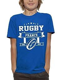b04514491 PIXEL EVOLUTION Camiseta 3D Rugby Francia en Realidad Aumentada Niño