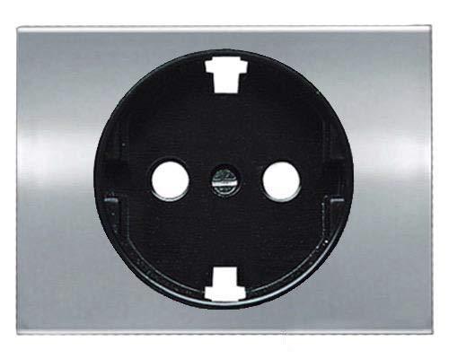 Niessen - 8488tt tapa enchufe schuko olas titanio Ref. 6520535326