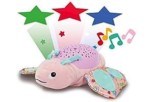 Jamara 460433 - Luz de Estrellas con diseño de Mariposa (proyección de Cielo Estrellado, Estrellas y Lunas, luz de Encendido y Apagado, Apagado automático), Color Rosa