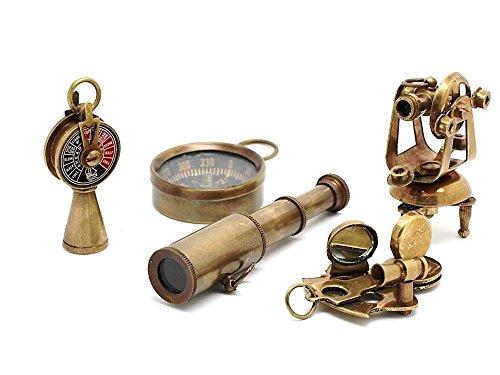 nautique Cadeau Set-miniature Télescope, Theodolite, Telegraph, Sextant, boussole