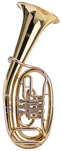 Classic Cantabile TH-38 Tenorhorn (Bb-Stimmung, Korpus: Messing, Neusilber-Außenzüge, Goldmessing-Mundrohr, 3 Messing-Drehventile) - Messing Classic 3
