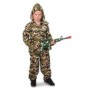 Folat 8714572632812 Traje de fantasía para niños - Trajes de fantasía para niños (Traje de fantasía, Uniform, Warrior, Niño, Caqui, Estampado)