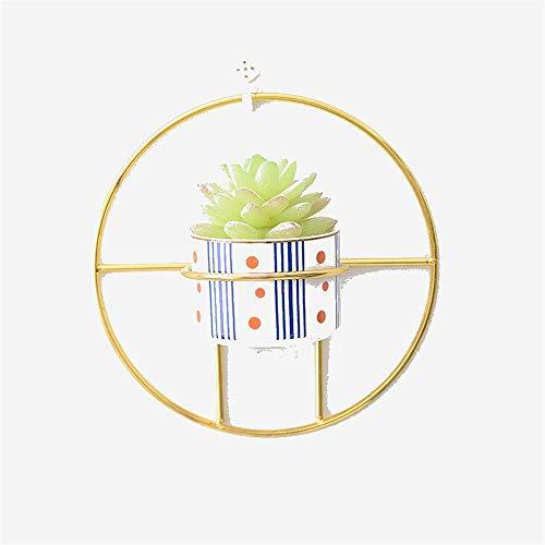 PHWED Hängende Wand vertraglich kreisförmige einfache Metallwand hängende Blume implementieren Neue Geldanlage Hydroponik-Blumentopf-Keramik Yard-Zeichen (Farbe : A)