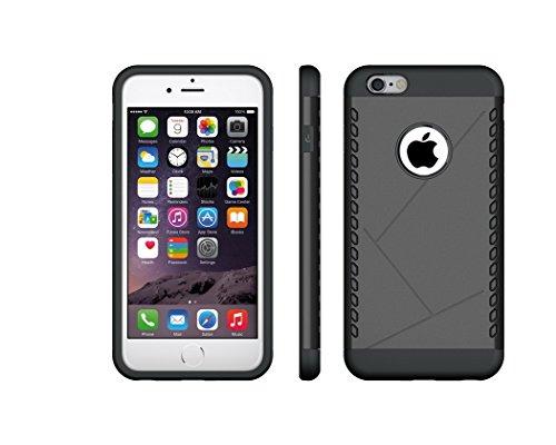 """Case iphone 6plus / 6 s plus 5.5 """"cas antichoc en caoutchouc dur en plastique cellulaire Coque noir"""