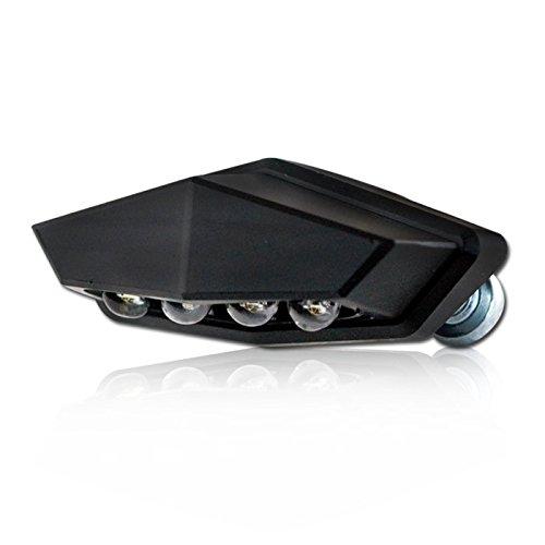 LED Motorrad Kennzeichenbeleuchtung Vento, Alu, schwarz, Maße: B 46 x H 21 x T 17, 5 mm, E-geprüft /Stück