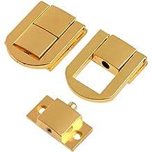 Antik-Look Sourcingmap a14082700ux0088 Verschluss f/ür Holzkisten mit Deckeln schlie/ßt von links goldfarben 20/St/ück