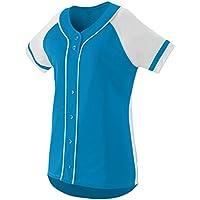 Augusta Sportswear Girls\' Winner Softball Jersey M Power Blue/White