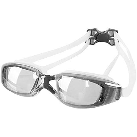 Gris de la manera lentes transparentes de los vidrios antiniebla gafas de natación