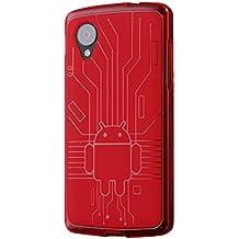 Cruzerlite Circuit Case - Carcasa para LG Nexus 5, rojo