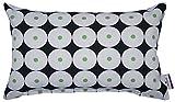 TOM TAILOR T-Retro Circles Kissenhülle, Baumwolle, Schwarz/grün/weiß, 30 x 50 x 0.05 cm