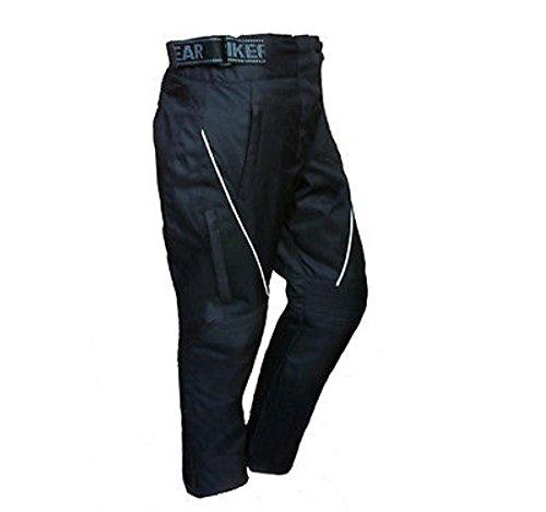 Damen Thermo-Hose für Motorrad-Fahrer - Wasserdicht - Mit Protektoren - Größe 34 - Bein: 30