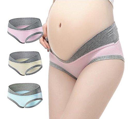 Maternité Culottes, Possec Femme Coton Vêtements Grossesse Sous-vêtements Culottes Pack de 3