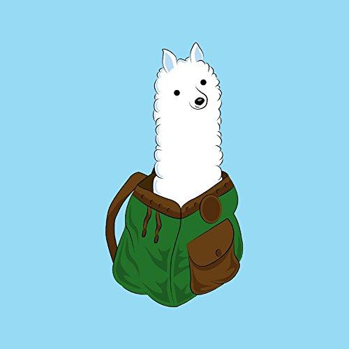 Alpaka in einem Rucksack I werden Pack eine Alpaka-VINYL Aufkleber -