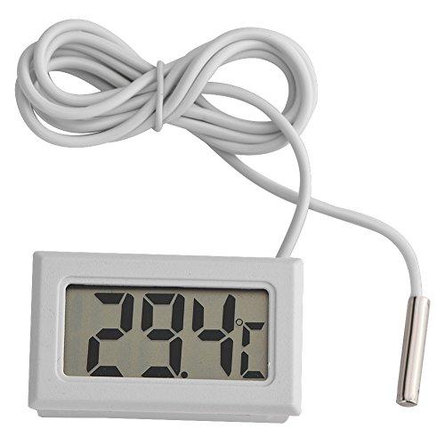 Tosuny Termómetro Digital, Pantalla Mini LED Medidor Digital de Temperatura Sensor de sonda Termómetro Digital LCD para acuarios, Aves, Reptiles, incubadoras, invernaderos, etc.